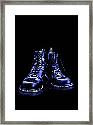 Martens - Blue Framed Print