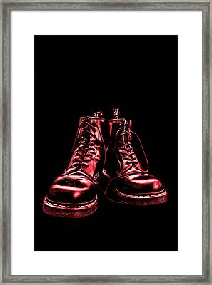 Martens - Red Framed Print
