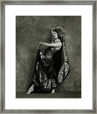 Martha Graham Dancing Framed Print