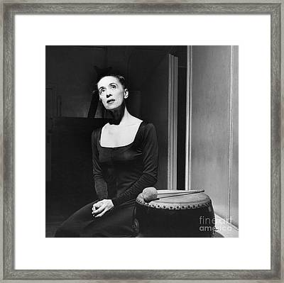 Martha Graham Framed Print by George Leavens