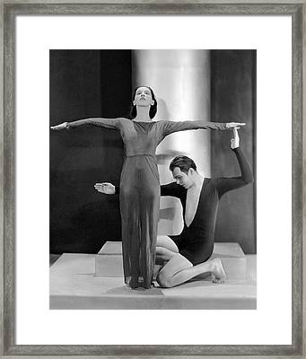 Martha Graham Posing With Charles Weidman Framed Print