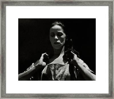Martha Graham With Her Eyes Closed Framed Print by Imogen Cunningham