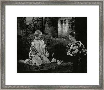 Martha Lorber And Marion Morehouse Framed Print by Edward Steichen