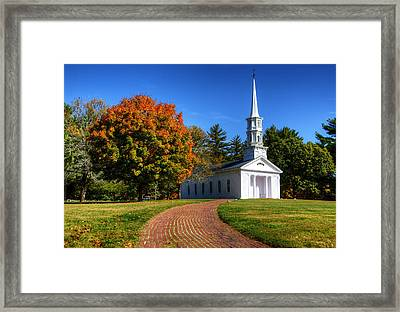 Martha Mary Chapel In Autumn Framed Print by Donna Doherty