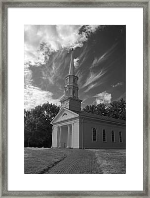 Martha Mary Chapel In Black And White Framed Print by Suzanne Gaff