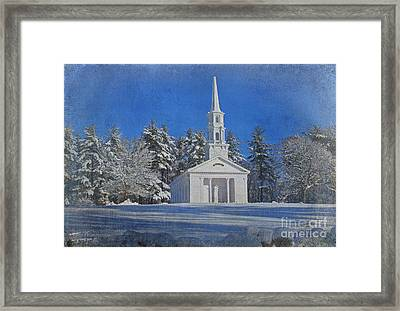 Martha Mary Chapel In Winter Framed Print by Jayne Carney