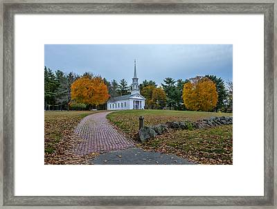 Martha-mary Chapel Sudbury Ma Framed Print by Wayne Collamore