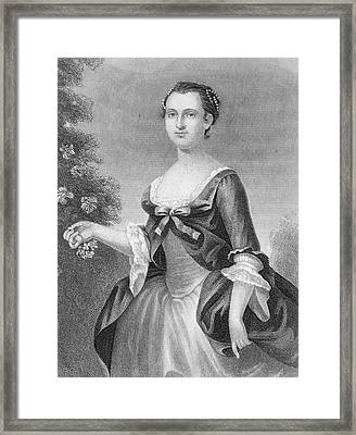 Martha Washington (1732-1801) Framed Print