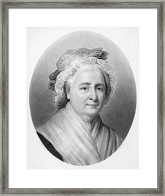 Martha Washington (1732-1802) Framed Print