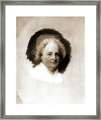 Martha Washington, Stuart, Gilbert, 1755-1828 Framed Print
