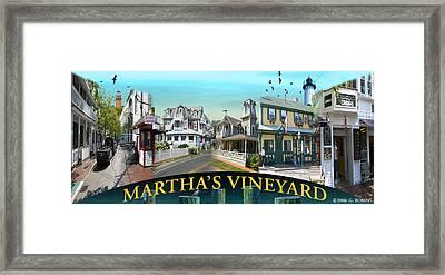 Martha's Vineyard Collage Framed Print by Gerry Robins