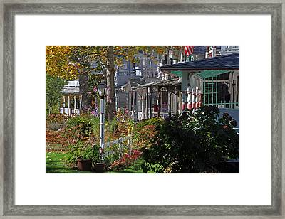 Martha's Vineyard Gingerbread Houses Framed Print by Juergen Roth