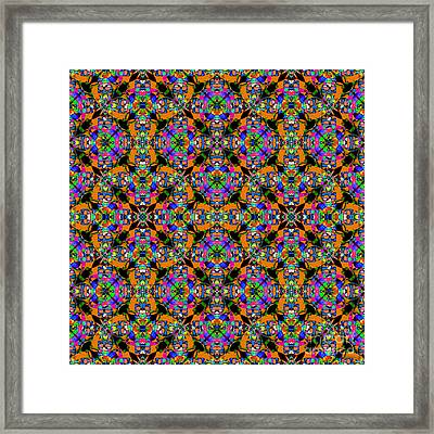 Marti Gras Carnival Jester Abstract 20130129v101 Framed Print by Wingsdomain Art and Photography