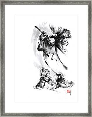 Martial Arts Japan Warrior Aikido Poster. Framed Print
