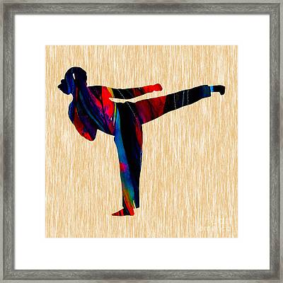 Martial Arts Karate Framed Print