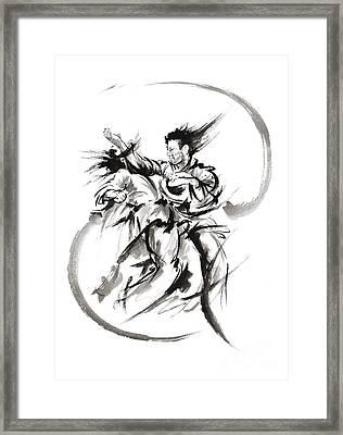 Martial Arts Poster. Framed Print by Mariusz Szmerdt
