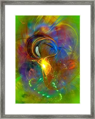 Martian Dance - Cool Alien Art Framed Print