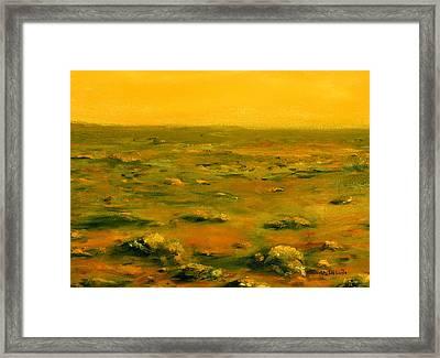 Martian Desert Landscape Art  Framed Print