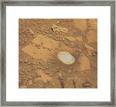 Martian Drilling Site Framed Print by Nasa/jpl-caltech/msss