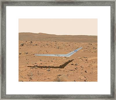 Martian Drone Framed Print by Nasa Illustration/dennis Calaba