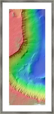 Martian Gullies Framed Print