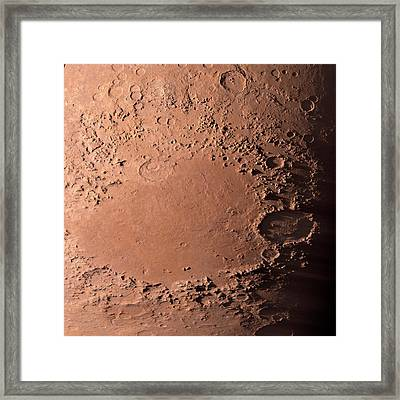 Martian Impact Basin Framed Print