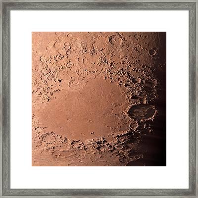 Martian Impact Basin Framed Print by Detlev Van Ravenswaay