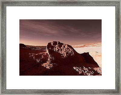 Martian Impact Crater Framed Print