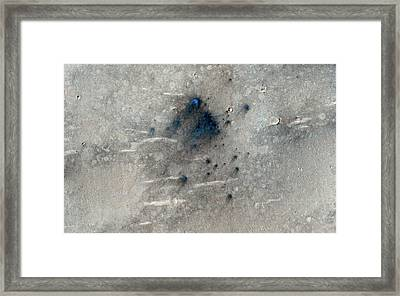 Martian Impact Craters Framed Print
