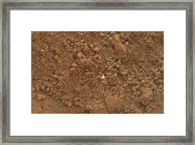 Martian Soil, Curiosity Image Framed Print by Science Photo Library
