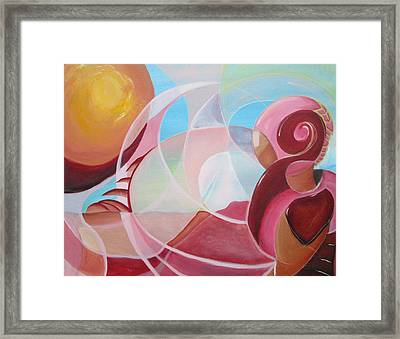 Martian Sunset Framed Print by Silvie Kendall