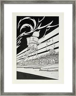 Martian Tripods Framed Print