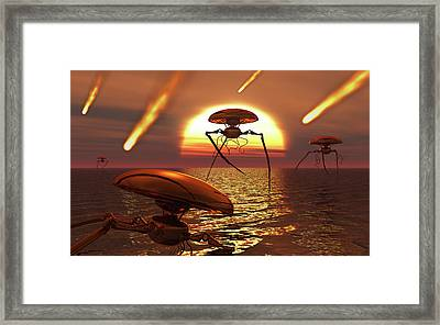 Martian Vehicles And War Machines Framed Print by Mark Stevenson