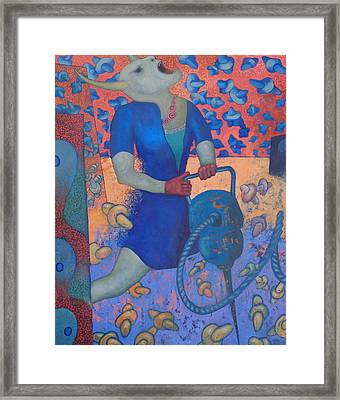 Martillo Neumatico I Framed Print by Ceri H Pritchard
