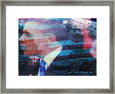 Martin And Obama Framed Print by Lynda Payton