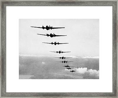 Martin B-10s In Formation Framed Print by Underwood Archives