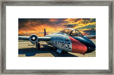 Framed Print featuring the photograph Martin B-57 by Steve Benefiel