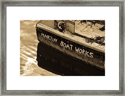 Martin Boat Works Framed Print by Mike Martin