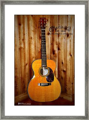Martin Guitar - The Eric Clapton Limited Edition Framed Print by Bill Cannon
