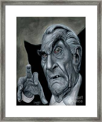 Martin Landau As Bela Framed Print