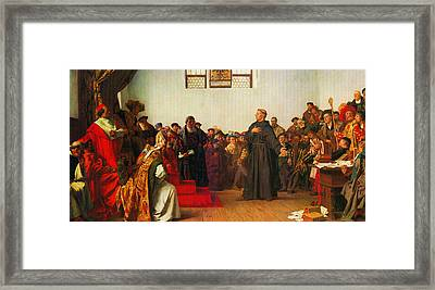 Martin Luther Before The Diet Of Worms Framed Print by Celestial Images