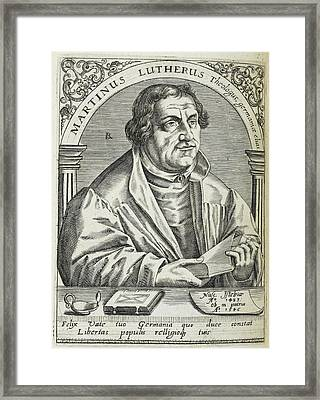Martin Luther Framed Print by British Library