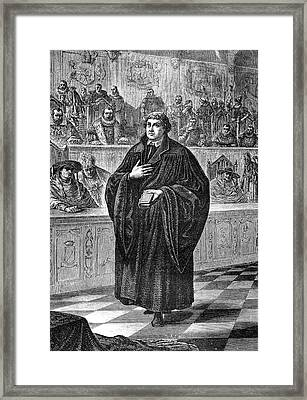 Martin Luther Framed Print by Collection Abecasis