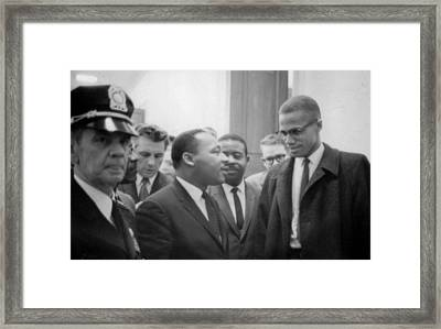 Martin Luther King Jnr 1929-1968 And Malcolm X Malcolm Little - 1925-1965 Framed Print
