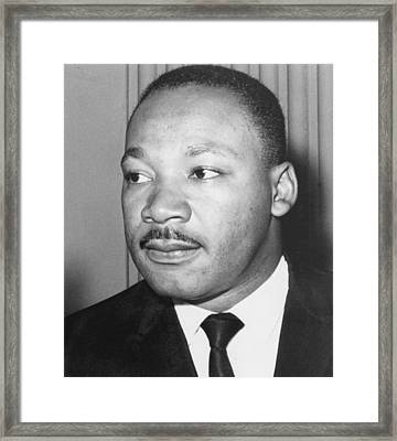 Martin Luther King Jr 1929-68 American Black Civil Rights Campaigner Framed Print by Anonymous