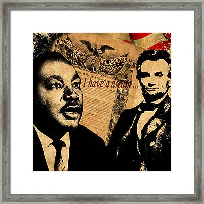 Martin Luther King Jr 2 Framed Print