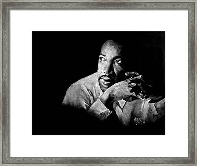 Martin Luther King Jr Framed Print