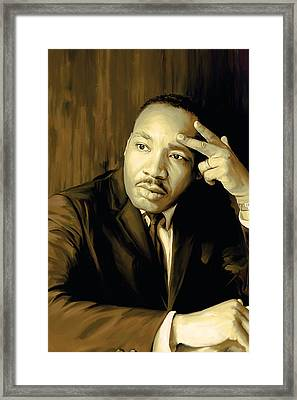 Martin Luther King Jr Artwork Framed Print by Sheraz A