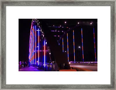Martin Luther King Jr Bridge Lit Up Framed Print by Dan Sproul