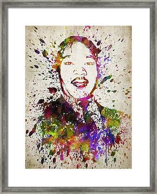 Martin Luther King Jr In Color Framed Print